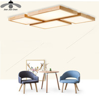 JJD AC110V 220V High Quality Wood Ceiling Lights Ultra Thin 5cm Ceiling Lamps For Living Room
