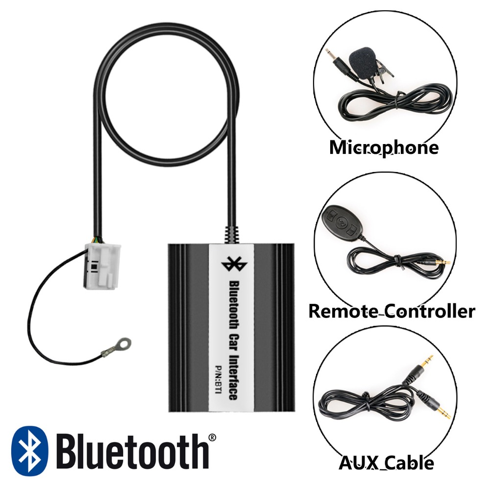Bluetooth Hands Free Adaptor Car Integrated USB AUX Jack Interface for Audi A3 2008-2010, A4 S4 2007-2009, TT 2007-2010