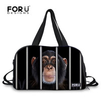 FORUDESIGNS Animal Monkey Parrot Sport Bags Training Gym Bags Men Big Capacity Outdoor Sport Tote For Male Luggage Bags Duffel