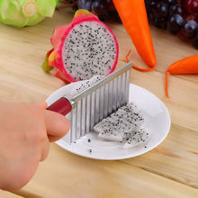 Для волнистой нарезки картофеля Обрезной нож из нержавеющей стали с пластиковой ручкой кухонный гаджет для овощей и фруктов резка-пилинг инструмент для приготовления пищи аксессуары