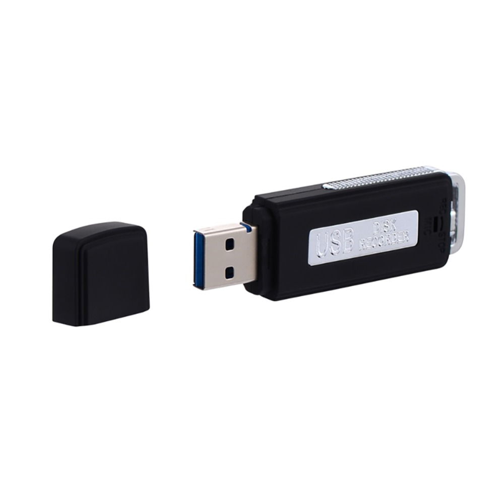 8GB U Disk Audio Pen Mini Digital USB Voice Recorder Rechargeable Dictaphone for PC Recording