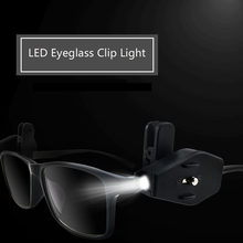 YINGTOUMAN Flashlight Glasses Reading Lamp Eyeglass Clip Lantern Adjustable Universal Eyeglasses Lamp Pocket Multi Tools Lights(China)