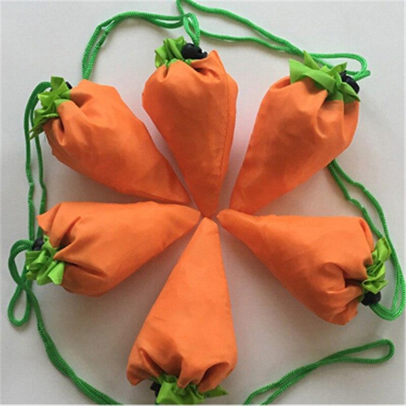 1 Pc Reusable Karotte Faltende Einkaufstasche Faltbare Eco Nylon Taschen Tote Träger Umwelt Freundliche Einkaufstasche Weich Und Rutschhemmend