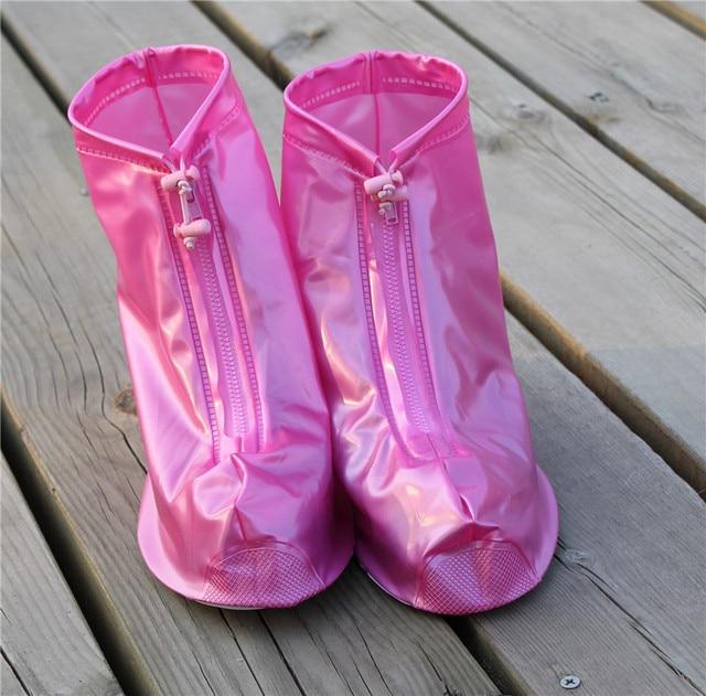 Thickening Reusable Waterproof Overshoes Shoe Covers Shoe Protector Anti-slip Rain Boot Men&Women's&Children Shoes Accessories 4