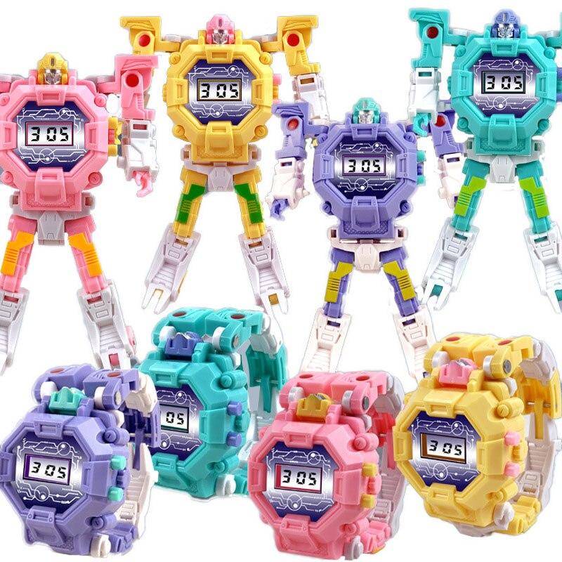 JOYROX Многофункциональный Дети% 27 Часы Робот Электроника Детские Часы Мальчики Девочки Цифровой Montre Enfant Saati Relogio Ребенок Часы