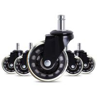 Office Chair Caster Wheels Roller Rollerblade Style Castor Wheel Replacement (2.5inches)
