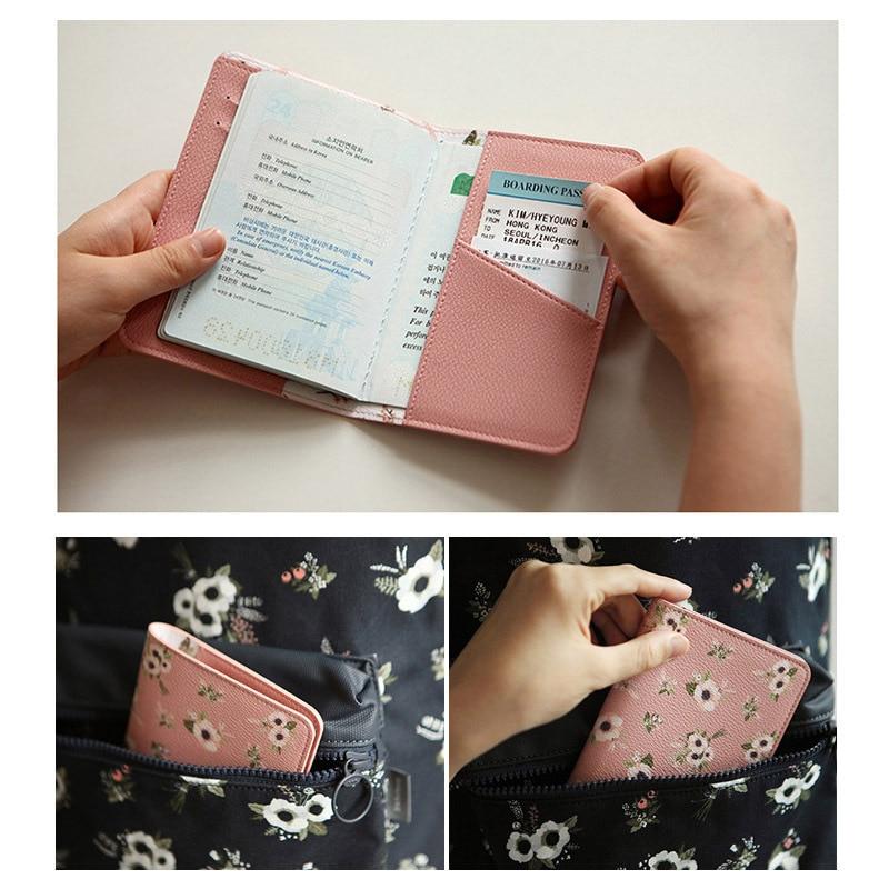 Seyahat malzemeleri karikatür baskı desen pasaport tutucu lady - Cüzdanlar - Fotoğraf 4