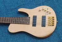 High quality 5 strings maple neck bass guitars across board fretboard free shipping