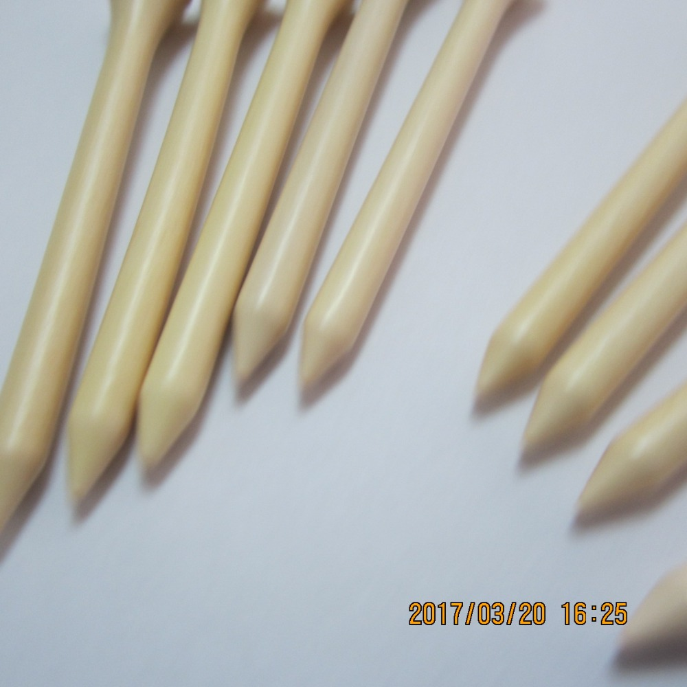 Image 3 - 1000pcs/ lot high quality bulk 70mm 2 3/4 inch nature wood color wooden golf tee