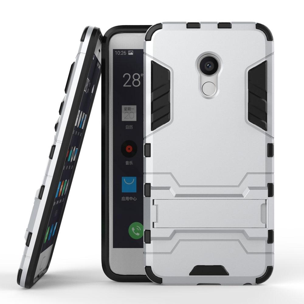 Meizu Pro 6 tokhoz, nagyteljesítményű hibrid páncél tok, hátsó - Mobiltelefon alkatrész és tartozékok