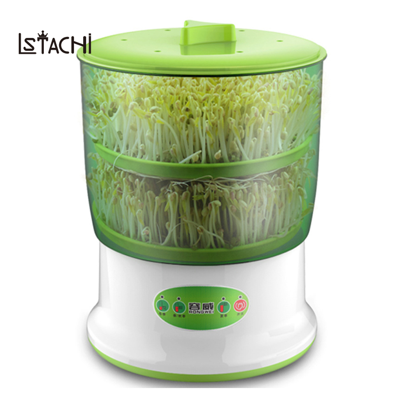 LSTACHi Intelligent Bean Sprouts Maker household Upgrade Large Capacity Thermostat Green Seeds Growing Automatic Sprout Machine automatic bean sprout machine 2 3 layers with pressure plate large capacity thermostat green plant seeds growing machine