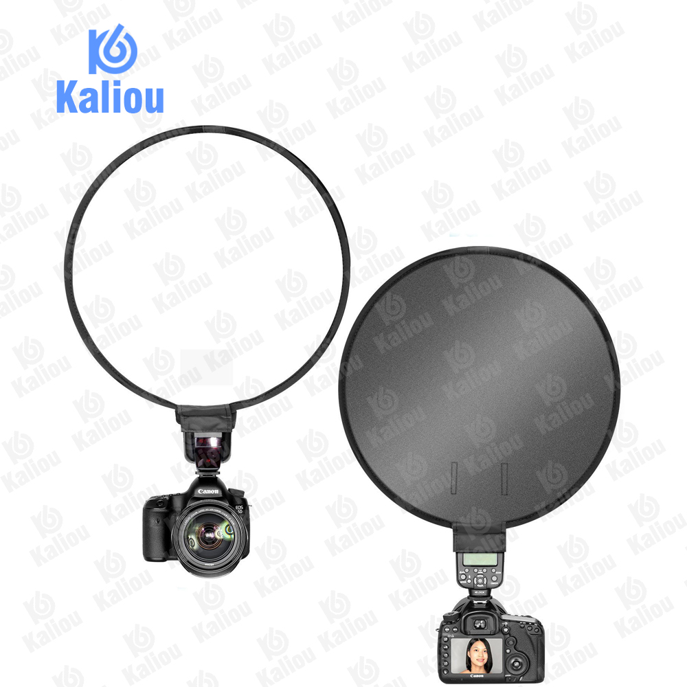 Image 2 - Kaliou 40cm Round Universal Portable Speedlight Softbox Flash Diffuser On top Soft Box for Camera-in Softbox from Consumer Electronics
