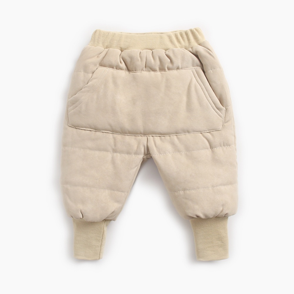 kids baby clothes toddler pants boys girls winter warm thicken pants solid packet mid waist harem pants girls clothes 6M-6T