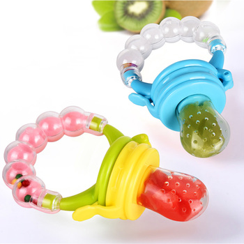 1Pcs Fresh Food Nibbler Baby Pacifiers Feeder Kids Fruit Feeder Nipples Feeding Safe Baby Supplies Nipple Teat Pacifier Bottles 1