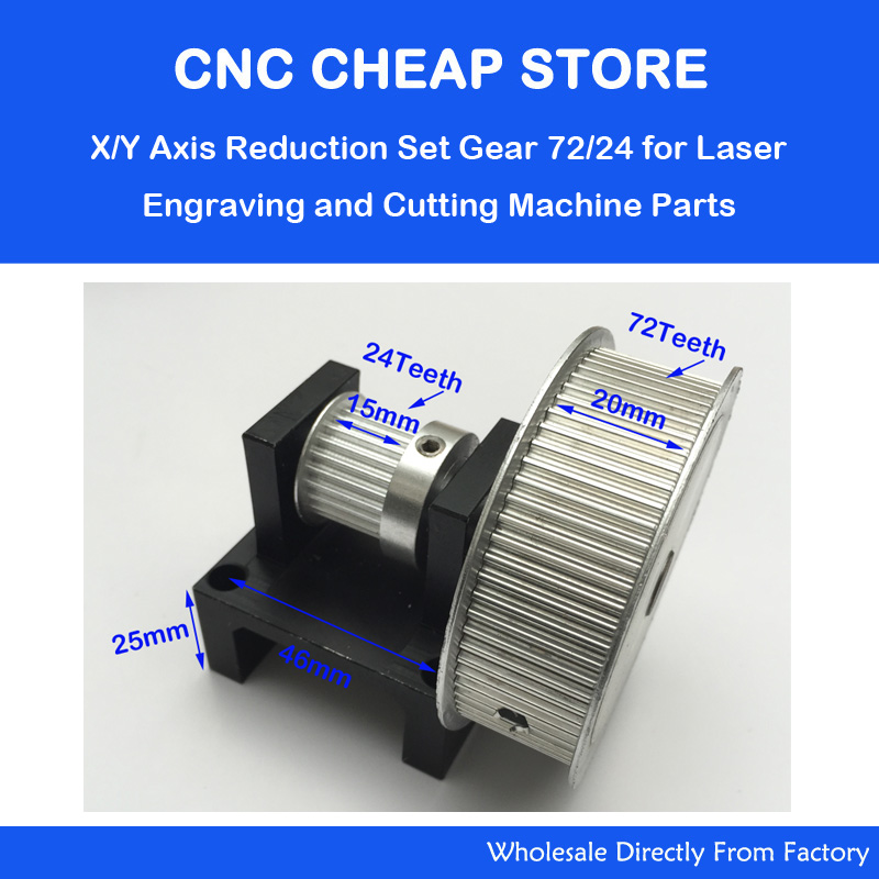 Timing belt pulleys deceleration suite 3:1 DIY X Y Axis CNC Co2 Engraver Cutter parts Synchronous pulley