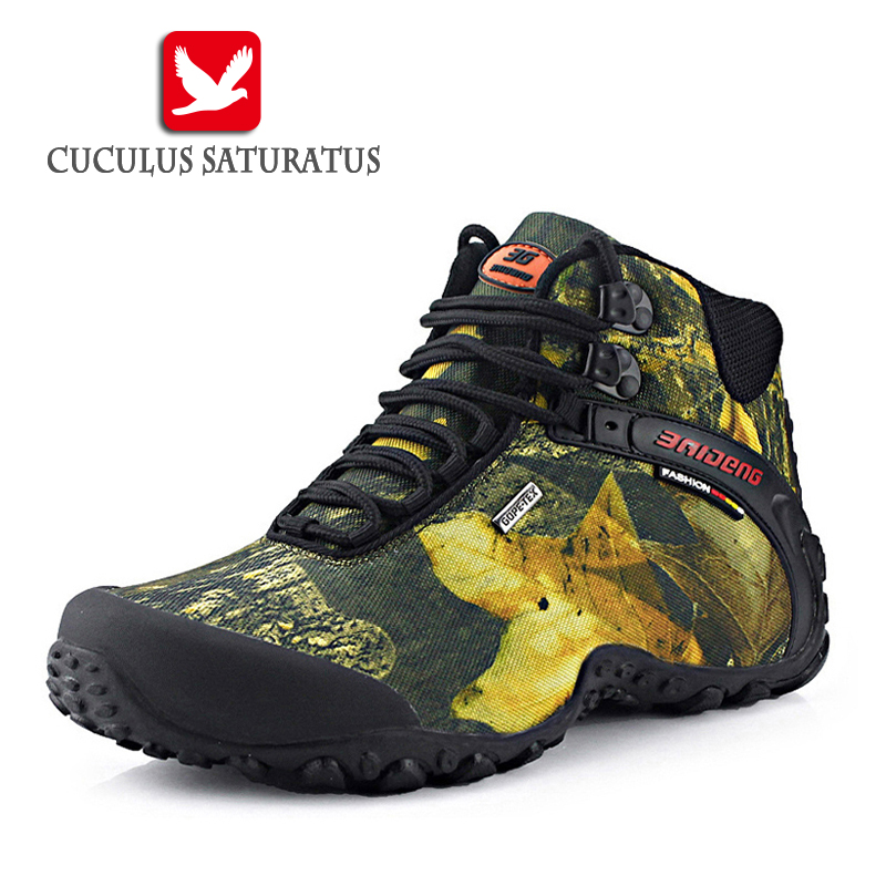 New Brand Men's Hiking Shoes Outdoor Men Trekking Shoes Non-slip Waterproof  Hiking Boots Mountain