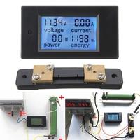 Nieuwe DC 100A LCD Digitale Power Meter Panel Voltmeter Ampèremeter + 50A Shunt Voor Power Tool Accessoires