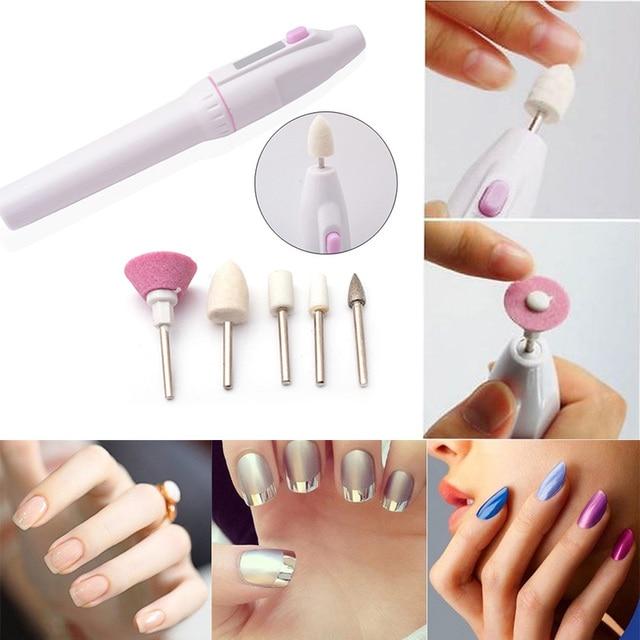 Manicura punta eléctrica manicura uña taladro file Tool nail ...