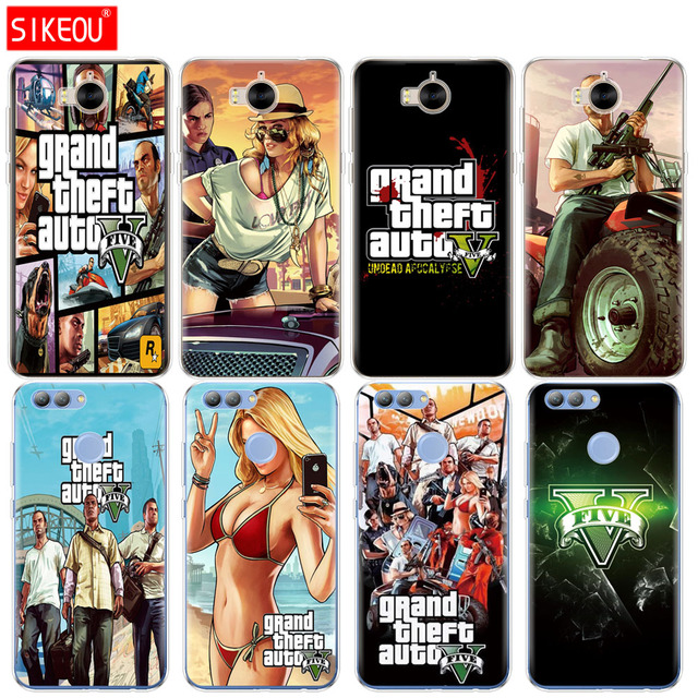 US $1 62 34% OFF|Silicone phone Cover Case for huawei Y3 Y6 Y5 2 II 2017  nova 2s 2 LITE plus rockstar gta 5 Grand Theft Auto-in Fitted Cases from