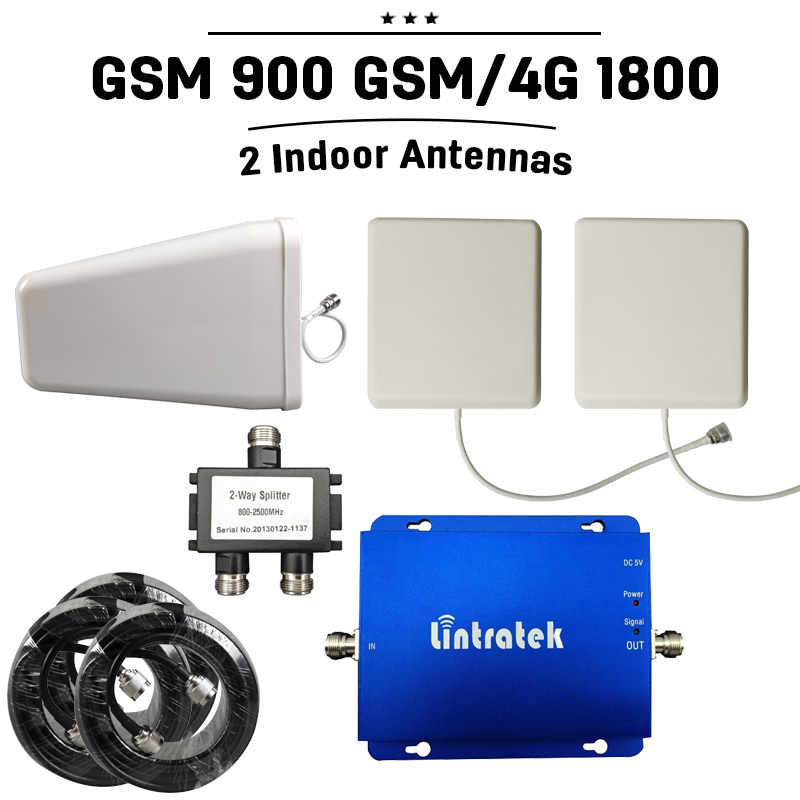 font b GSM b font Repeater 900 1800 Dual Band Signal Booster Boost Mobile Cell