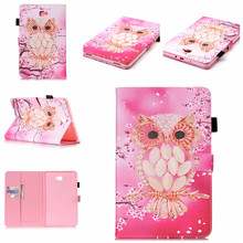 Flip Painted Pattern Case For Samsung Galaxy Tab A A6 10.1 inch 2016 10.1 T585 T580 T580N Smart Cover Funda PU Leatherl Case high quality smart flip case for samsung galaxy tab a 10 1 2016 t585 t580 sm t580 t580n case cover gift screen protector