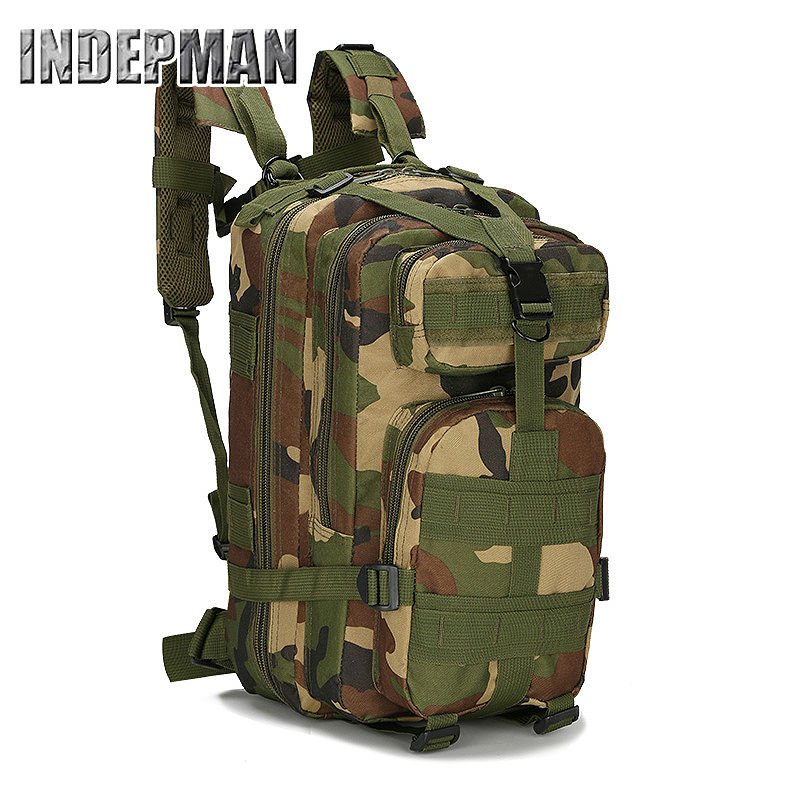 Indepman Military Backpack 3 Days military Army Camouflage Rucksack for Trekking Casual Bag Medium Casual Escolar Mochila Bag