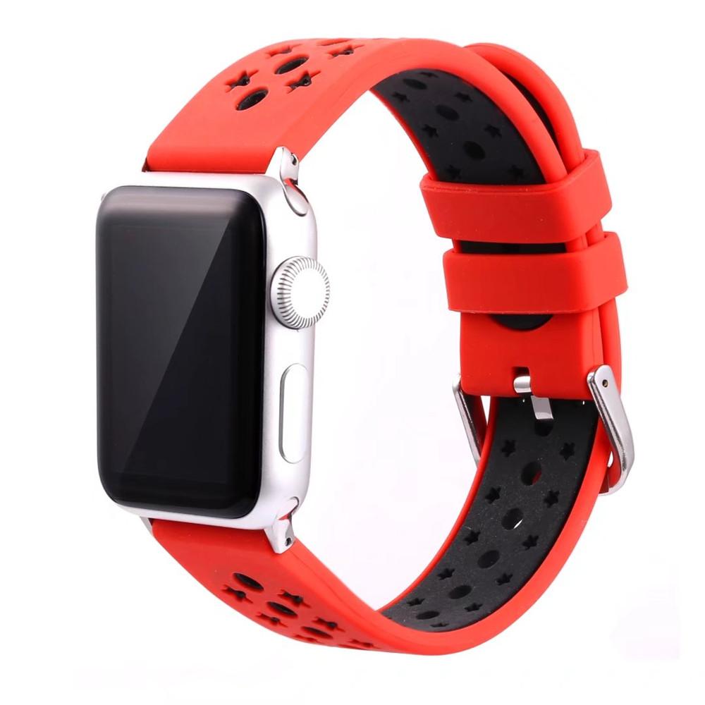 Prix pour Nouveau design étoiles couleur mixte bracelet en silicone pour apple watch band bracelet avec connecteur adaptateur pour iwatch 42mm 38mm