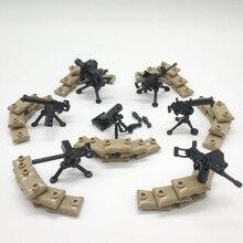 Máquina Pesada Arma Blocos Militares WW2 Soldados Tijolos de blocos de Construção de Armas arma Máxima LegoINGlys Acessórios Modelo de Montar