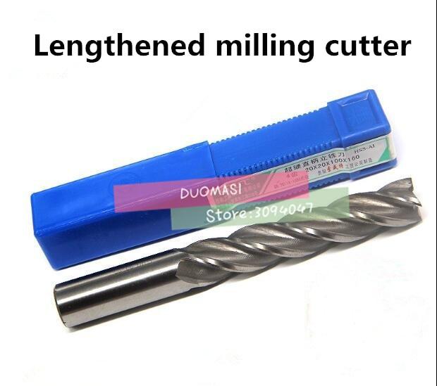 5pcs Extra Long 12mm Four Flute HSS End Mill Cutter CNC Bit Extended lengthening