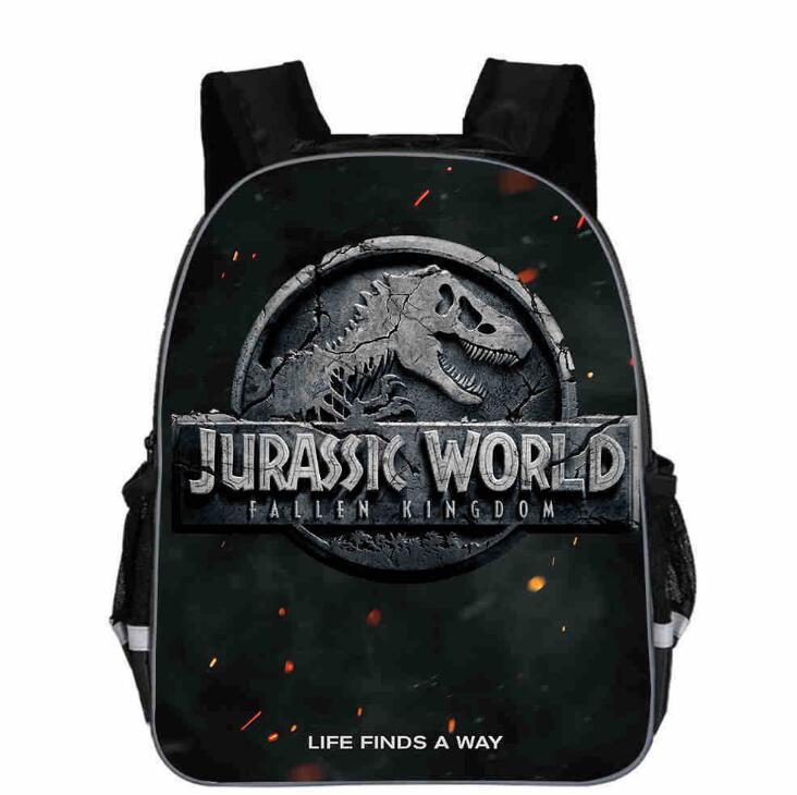 Mochila de dinossauro estampada de animais, 11-16 polegadas, populares, crianças, meninos, crianças escola