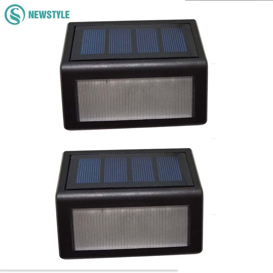 2Pcs LED Solar Light Outdoor IP55 Waterproof 6LED Light