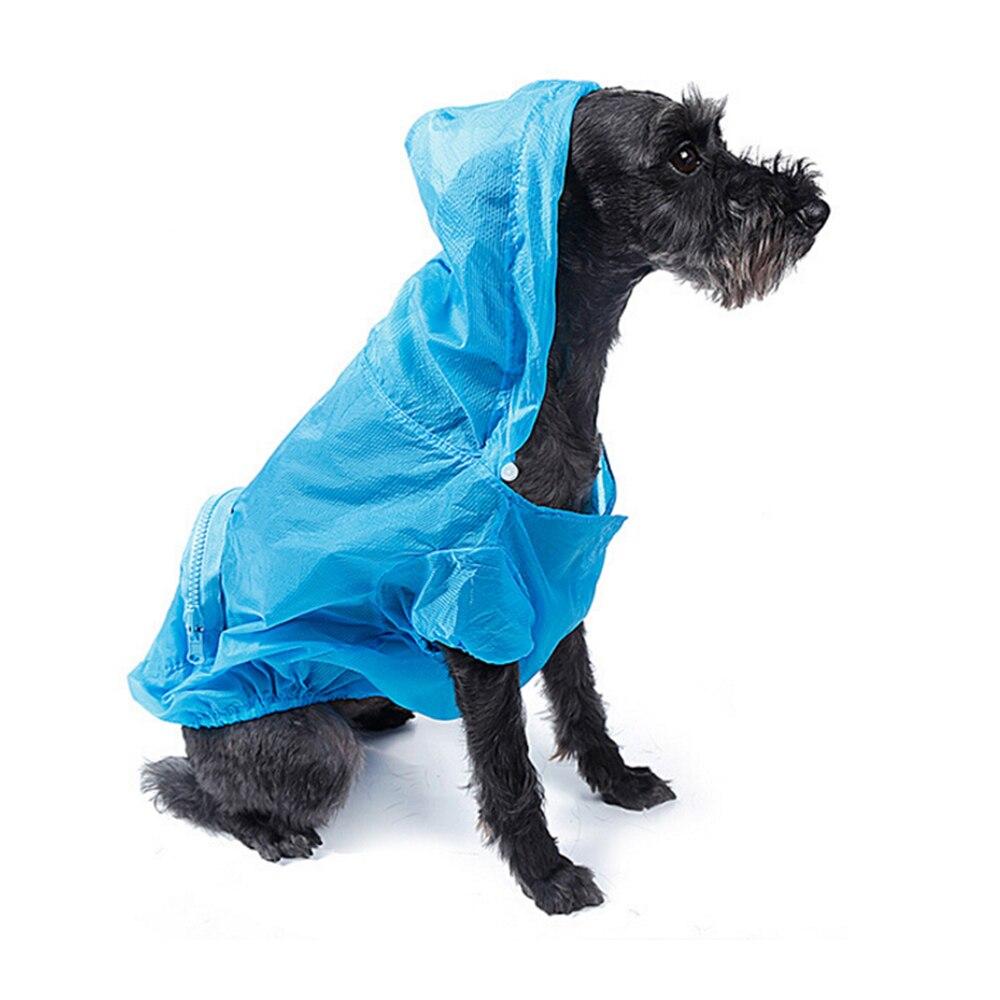 Переносной путешествия собаки солнце УФ-защита плащ Водонепроницаемый с капюшоном Одежда для собак дождевик плащ для Щенок Pet дождливый с к...