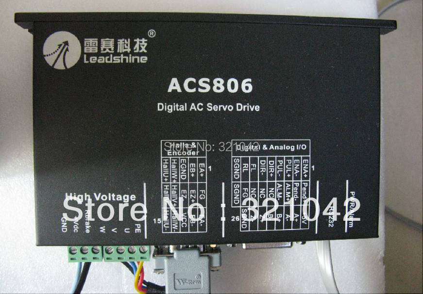 New Leadshine ACS806 AC servo drive work 20- 80 VDC Out 6A-18A for Fit for ACM604V60-2500 servo motor RS232 cable wholesale 3 pcs a lot leadshine ac servo drives acs806 work 48 80 vdc out 0a to18a fit acm604v60 2500 brushless servo motor