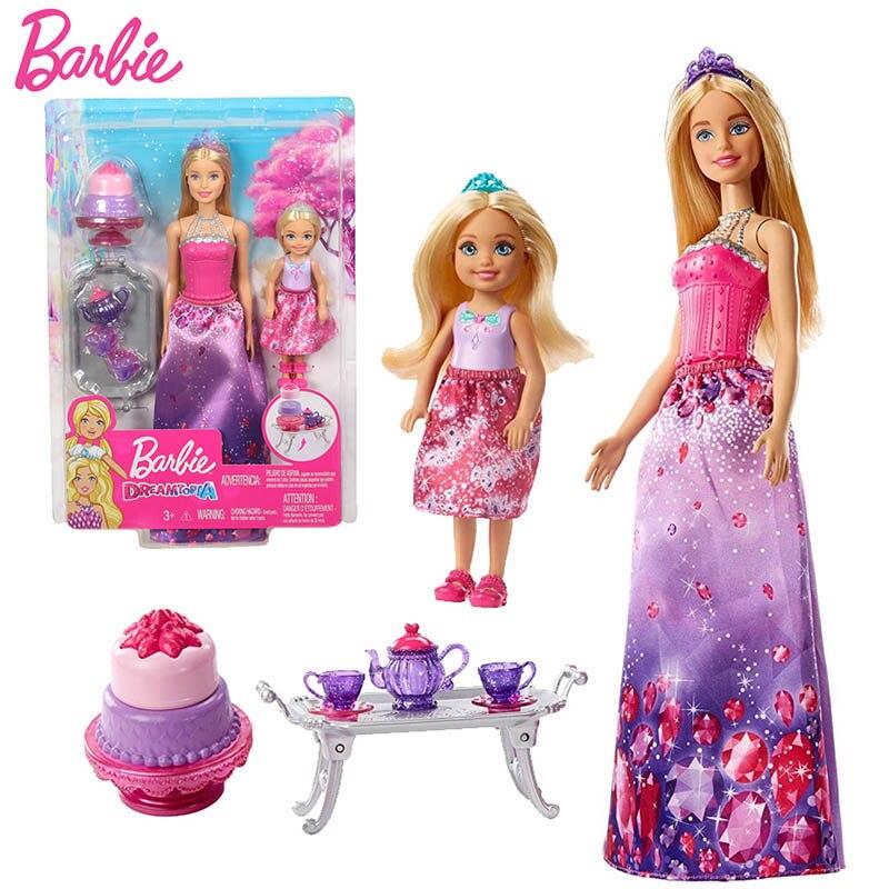 Оригинальный бренд Барби Boneca детская принцесса Русалка чай время кукла особенность радужные огни игрушка для дня рождения Детские игрушки