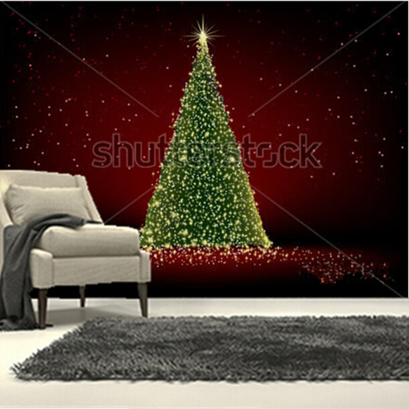 The custom 3D murals,Abstract green christmas tree on red background  wallpaper,living room sofa TV wall bedroom wallpaper 3d murals wallpaper for living room abstract tree image wall living 3d wallpaper 3d bathroom wallpaper