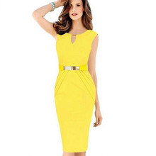 Elegant Women Slim Draped Keyhole Neck Vestidos Plus Size Bodycon Pencil Dresses Sequined Sleeveless Midi Office Dress 4 Colors