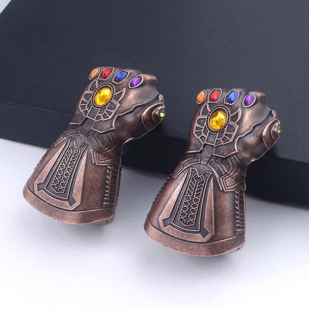 Avengers Thanos Găng Tay Móc Khóa Bia Dụng Cụ Mở Nắp Hộp Móc Khóa Marvel Avengers Cấp Trò Chơi Vô Cực Chiến Tranh 3D Mặt Dây Chuyền Móc Khóa dành cho Nam