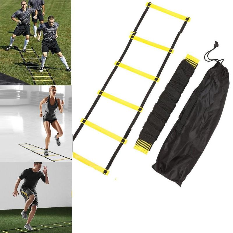 Rung Nylon Straps Training Ladders Agility Speed Ladder Stairs for Soccer Football Speed Ladder Fitness Equipment 6/7/8/12/14 6