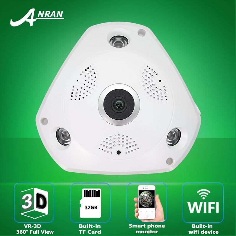 ANRAN 360 Degree VR Panorama font b Camera b font HD 960P Wireless WIFI IP font