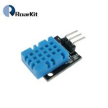 Inteligente 3pin KY-015 DHT-11 dht11 digital temperatura e módulo sensor de umidade relativa + pcb para arduino diy starter kit