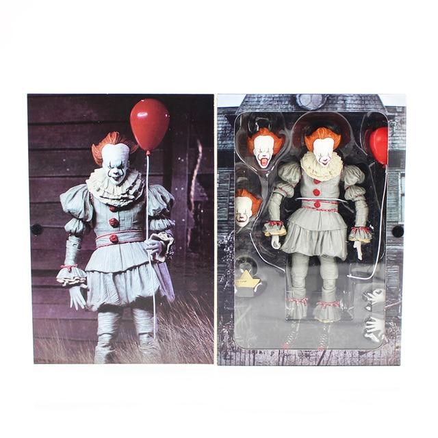 Stephen King é Filme de Terror Palhaço palhaço Pennywise NECA Estatueta PVC Action Figure Modelo Coleção Toy Presente do Dia Das Bruxas