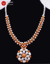 Женское Ожерелье из натурального жемчуга 5 6 мм