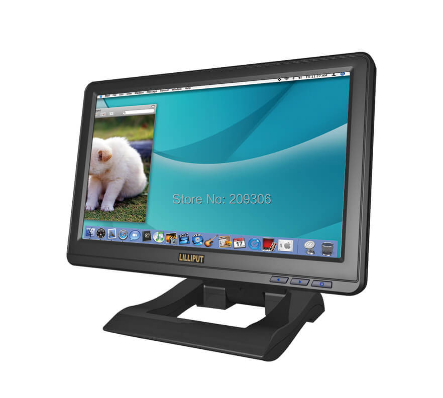 LILLIPUT UM-1010/C/T 10.1 TFT LCD USB 4-Wire Resistive Touch Screen USB monitor with desktop base stand
