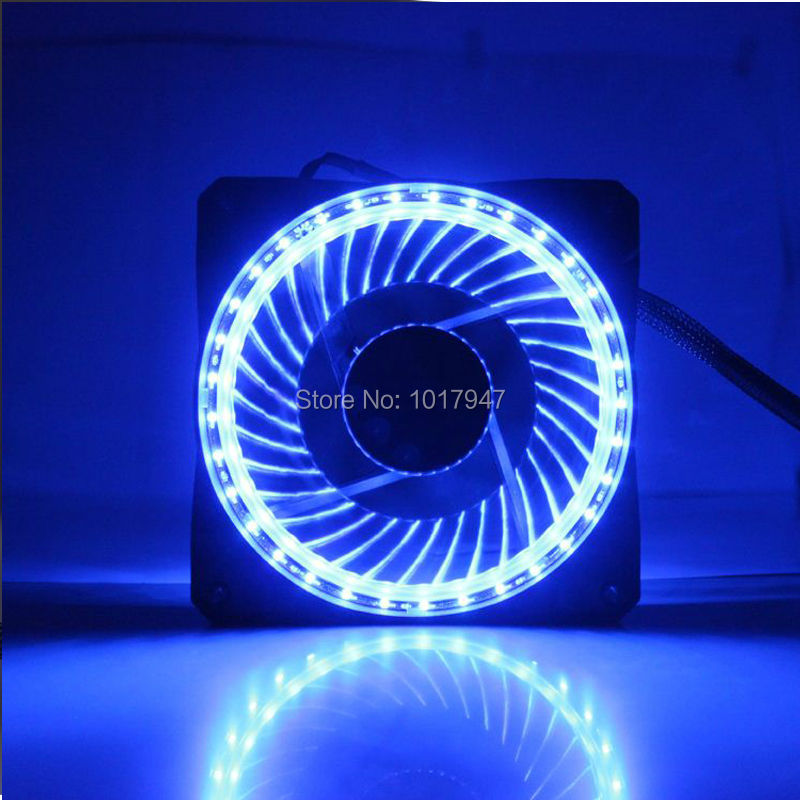 50pieces lot 3Pin 4Pin 12V Cooling CPU Heatsink Fans 32 LED Light blue For Computer PC Case 120 x 25mm