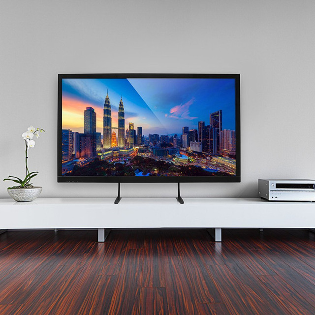 Zawsze uniwersalna podstawa stojaka na telewizor wymienny stół do montażu na stojaku pasuje do 32-65 Cal LCD LED Plasma 110 Lbs pojemność VESA 800x500m