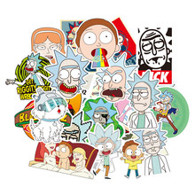 50Pcs Amerikaanse Drama Rick en Morty Stickers Decal Voor Snowboard Bagage Auto Koelkast Auto-Styling Laptop Voor Kinderen gift F4(China)