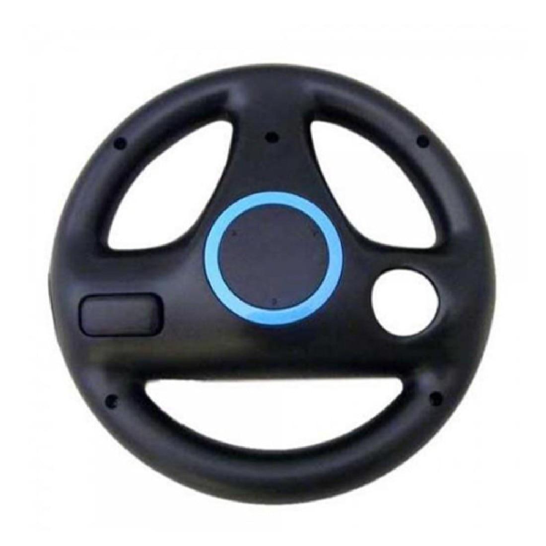 JESBERY Noir Volant Pour Nintendo Wii Mario Kart Racing Jeux De Qualité Supérieure À Distance Contrôleur