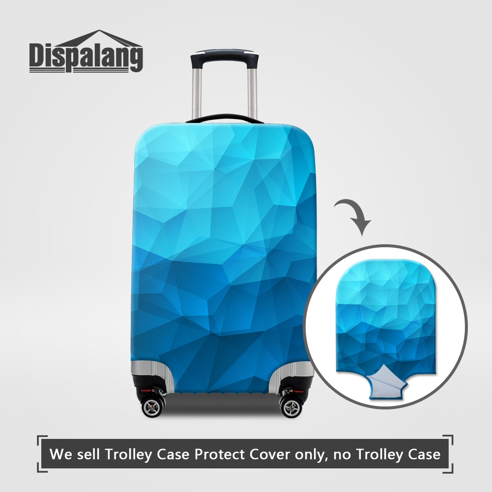 Dispalang lightning diamond portable elastic stretch protect suitcase cover to 18-30 inch cases durable dust rain luggage covers