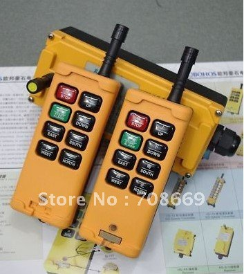 HS-8 2 Transmitters 3 Motions 1 Speed Hoist Crane Truck Remote Control System 110VAC
