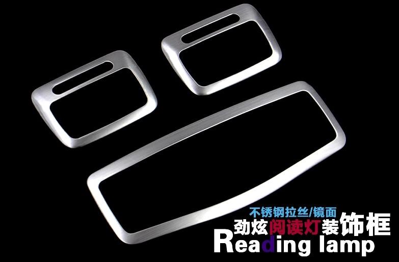 For Mitsubishi ASX 2013 2014 Stainless Steel Reading Lamp Cover Trim 3 pcs / set novline пороги алюминиевые optima black 1700 черные mitsubishi asx 2014